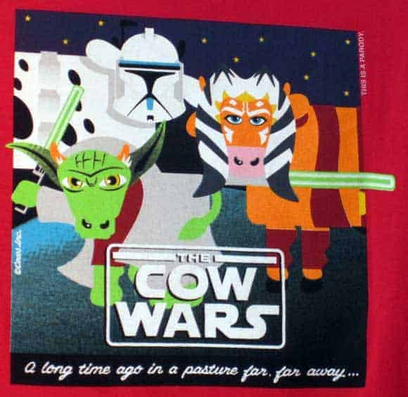 Star Wars becomes Cow Wars