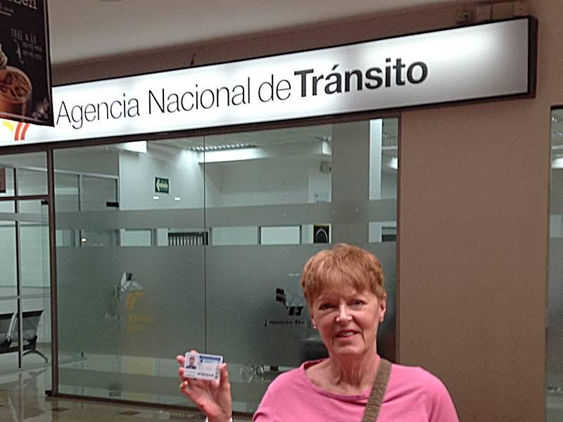 Ecuador drivers license in hand