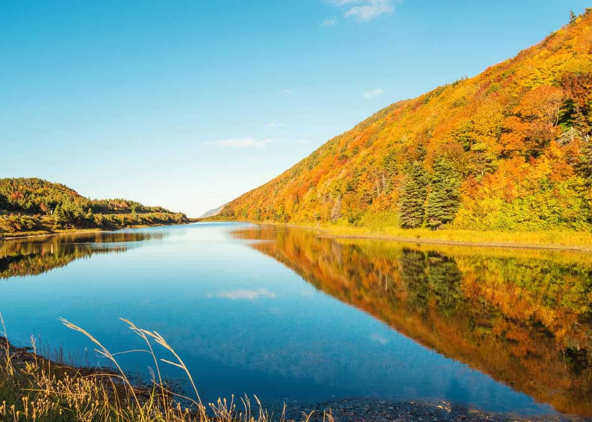 camping cabot trail in autumn