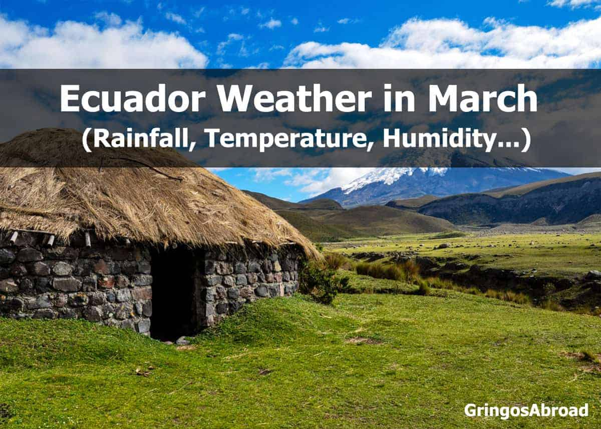 ecuador weather in march