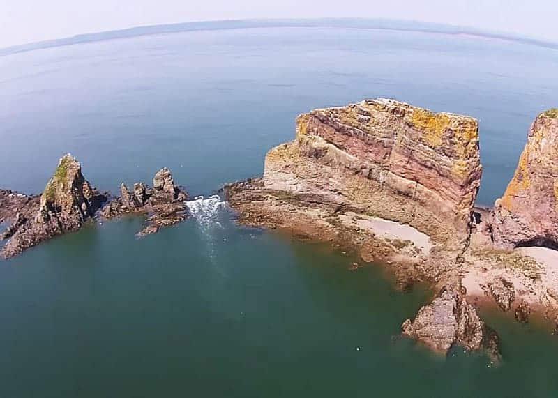 cape split aerial drone footage