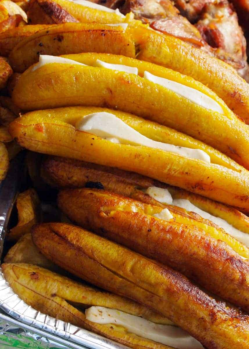 ripe plantains with cheese